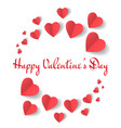 valentines day paper hearts design vector image