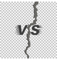 versus style vs symbol battle headline template vector image vector image