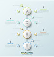 vertical timeline with 4 white round elements vector image vector image
