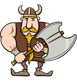viking cartoon vector image vector image