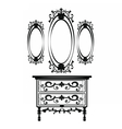 Vintage Baroque Imperial Dressing Table and Mirror vector image vector image