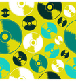 Vinyl record seamless pattern vector image