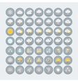 Weather icons set Flat circle icons with shadows vector image