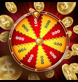 wheel of fortune design win fortune vector image