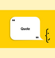 white speech bubble shape and smile on yellow vector image