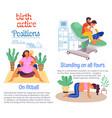 women preparing for upcoming birth childbirth vector image