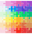 abstract color background icon jigsaw vector image