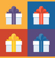 colorful gift box icon set vector image