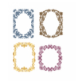 Royal frame set with luxurious ornaments vector image