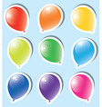vector set of colorful paper balloons vector image