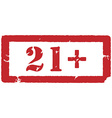 21 restriction sign vector image vector image