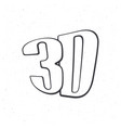 abbreviation for three-dimensional film 3d vector image vector image