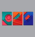 abstract geometric layout design template vector image