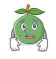 afraid guava mascot cartoon style vector image vector image