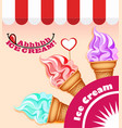 background with a set ice cream vector image vector image