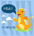 badragon with text hello banner vector image vector image