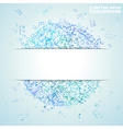 Blue square music background vector image vector image