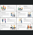 business idea strategy successful teamwork banners vector image vector image