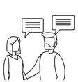 business man and woman talking dialogue vector image