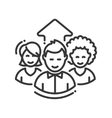 Business team work single icon vector image vector image