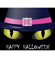 Cat eyes halloween vector image