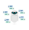 chatbot concept bot or robot give answer for user vector image
