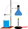 chemical laboratory equipment eps10 vector image vector image