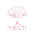 Classic vintage badges for Valentines Day vector image