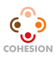 cohesion logo flat style vector image