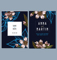 dark wedding invitation card with colored almond vector image vector image