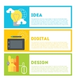 Designers process of work from idea to result vector image vector image
