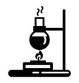 flask lab burner icon simple style vector image vector image
