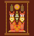 folk card in scandinavian style vector image vector image