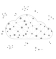 frame polygon cloud with gray lines and circles vector image
