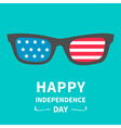 Glasses with stars and strips independence day vector image vector image
