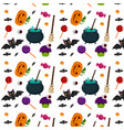 halloween elements pattern vector image
