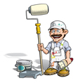 Handyman Painter White Uniform vector image