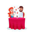happy couple in love on a date man and woman vector image