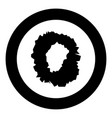 hole in the surface icon black color in circle vector image vector image