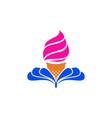 ice cream logo icon concept vector image