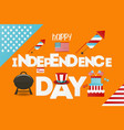 independence day greeting card vector image