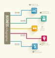 infographic business flowchart template vector image vector image