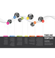 infographic company milestones timeline template vector image vector image