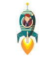 lady on space rocket vector image vector image