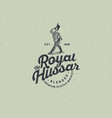 logo royal hussar whiskey emblem packaging design vector image