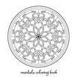 mandala adult coloring book circular vector image