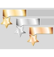 metal stars vector image