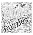 Mind Puzzles for Future Planning Word Cloud vector image vector image