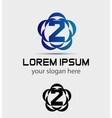 Number three 2 logo symbol design template element vector image vector image