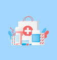 pharmacy concept vector image vector image